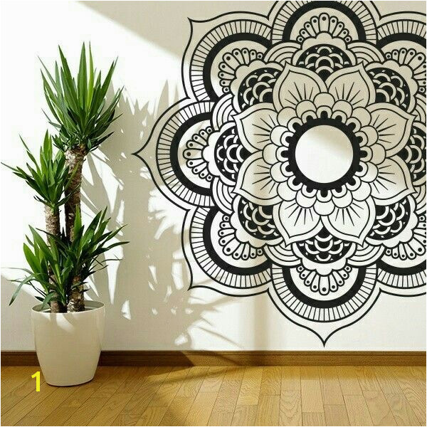 black white mandala wall art