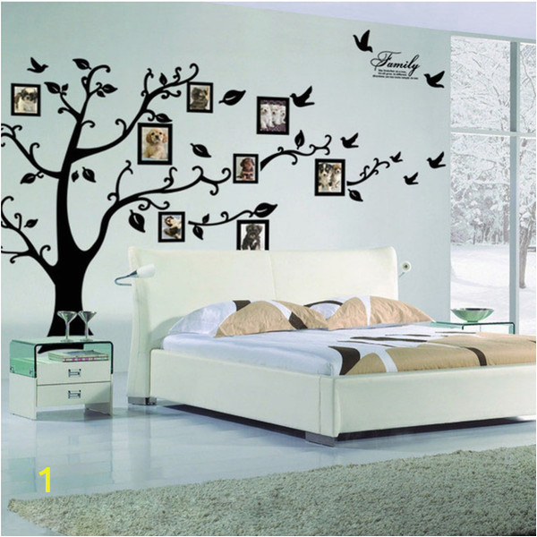 3d Big Tree Wall Murals for Living Room Tree Wall Sticker Frame Family Diy Vinyl 3d Wall Stickers Home Decor Living Room Wall Decals Tree Big Black Poster Vinyl Sticker Wall Art