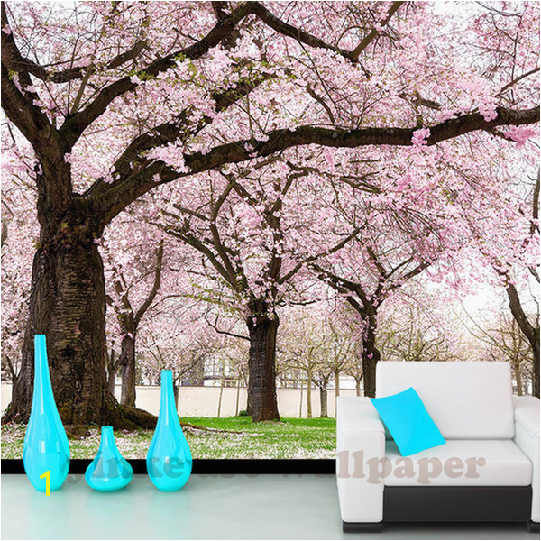 3d Cherry Blossom Wall Mural Custom Romance Pink Flower Tree 3d Wall Papers Cherry Blossom Wallpaper Murals for Tv Backdrop Wedding Room Papel De Parede Wallpaper A Desk Wallpaper