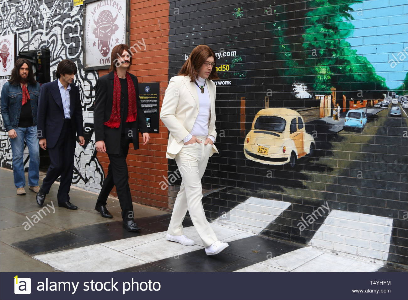 liverpool uk cast of let it be at abbey road photoshoot credit ian fairbrotheralamy stock photos T4YHFM