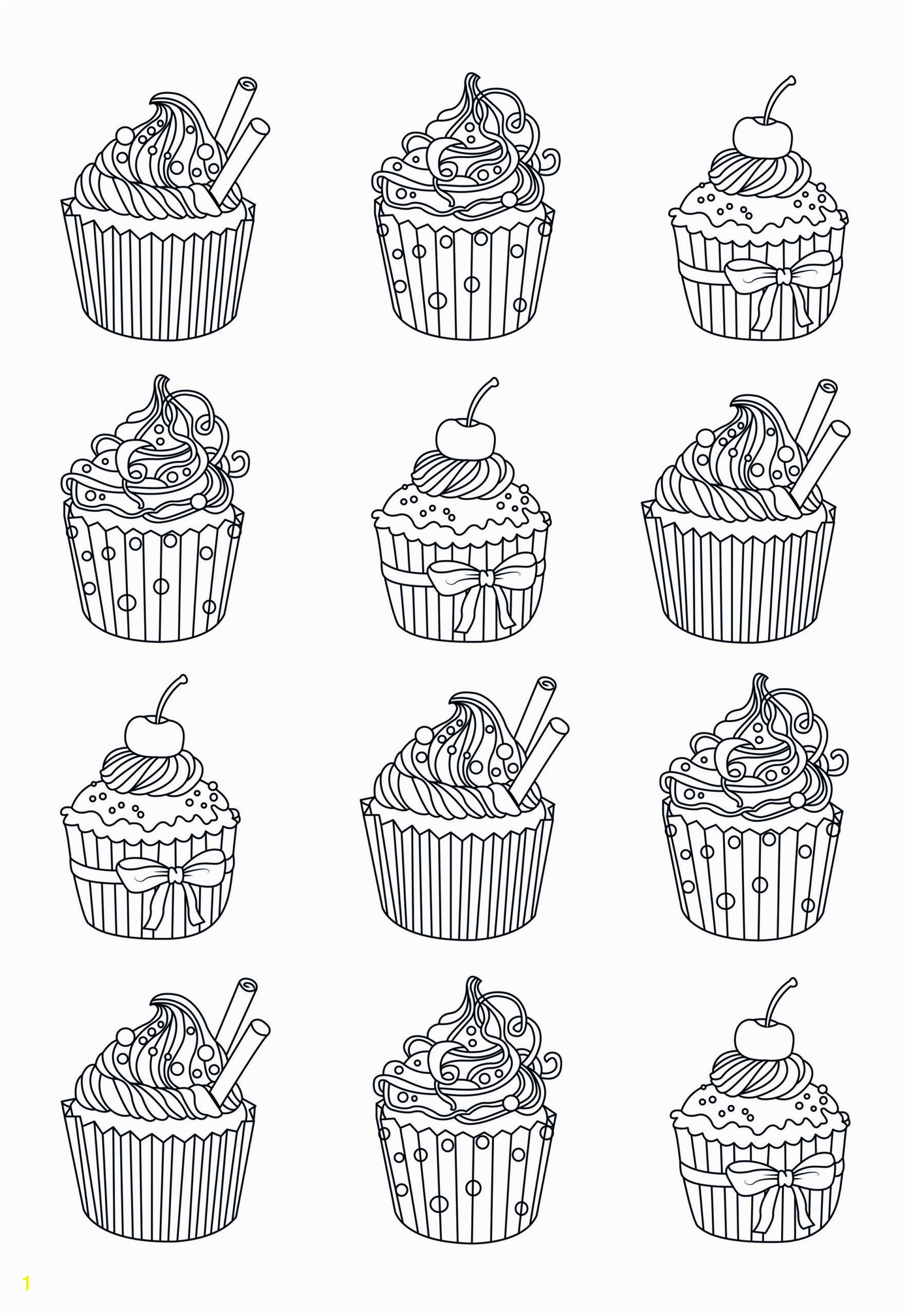 cupcakes easy celine adult coloring pages incredible free picture inspirations page scaled