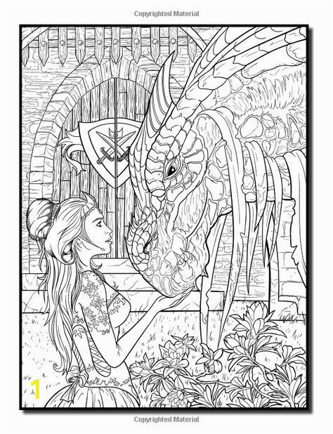 Adult Coloring Pages Dragons Amazon Dragons An Adult Coloring Book with Fun