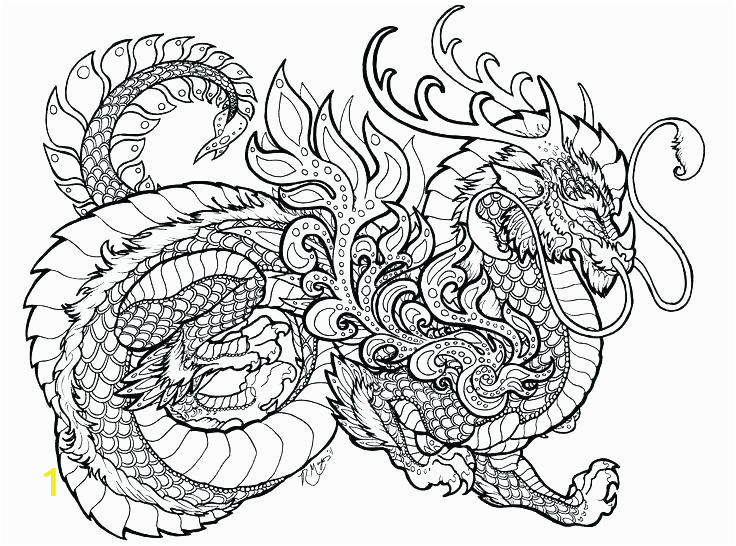 Chinese Dragon Coloring Pages for Adults