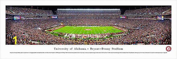 alabama crimson tide football 50 yard line 13x40 unframed panoramic wall art p