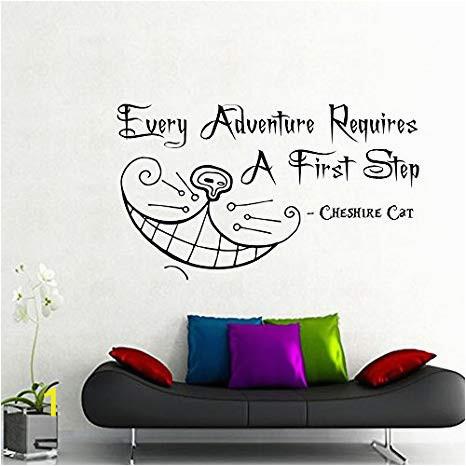Alice In Wonderland Wall Mural Amazon Cheshire Cat Wall Decals Alice In Wonderland