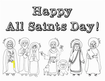 happy all saints coloring page
