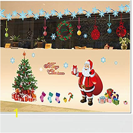 Amazon Christmas Wall Murals Amazon Christmas Wall Stickers Santa Claus Wall Mural