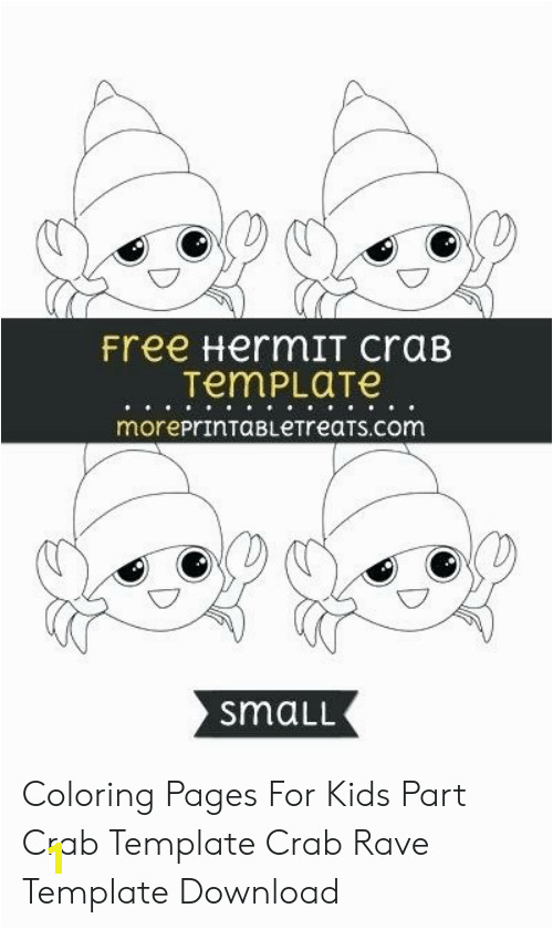 free hermit crab template moreprintabletreats small coloring pages for kids