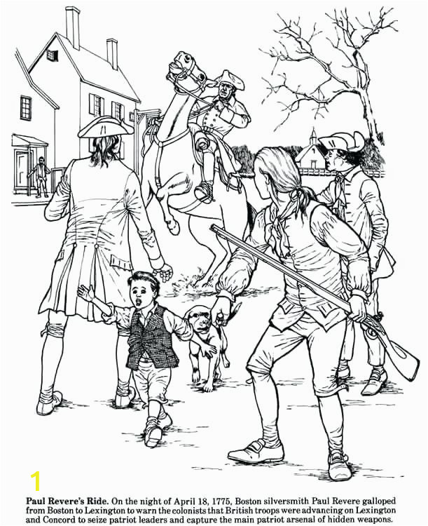 paul revere coloring pages story of the revolution coloring book from publications paul revere coloring sheets