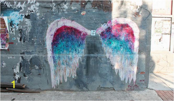 Angel Wings Wall Mural Los Angeles 1357 U Street Nw Washington Dc