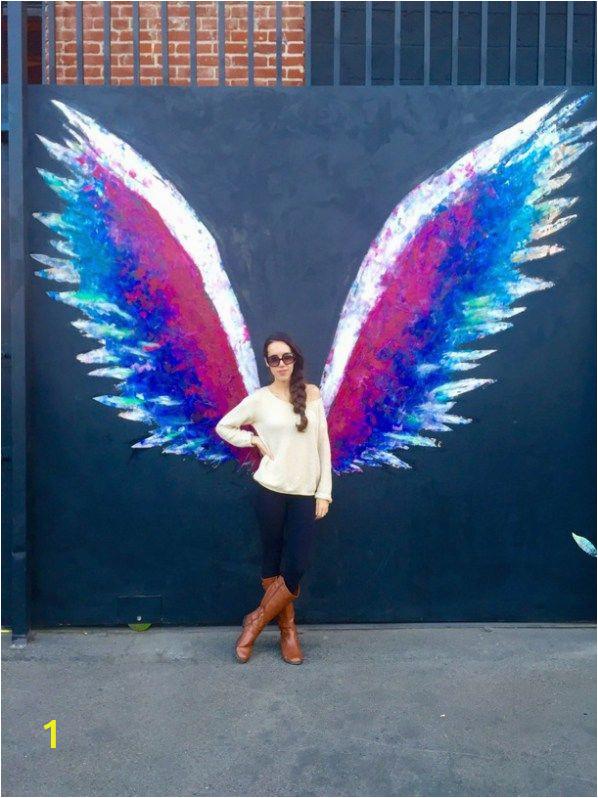 Angel Wings Wall Mural Los Angeles Best Instagram Spots In Los Angeles