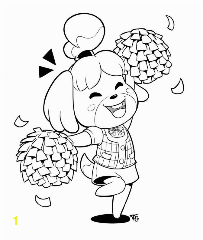 animal crossing reese coloring pages collection isbelle from color marvelous image ideas 672x793