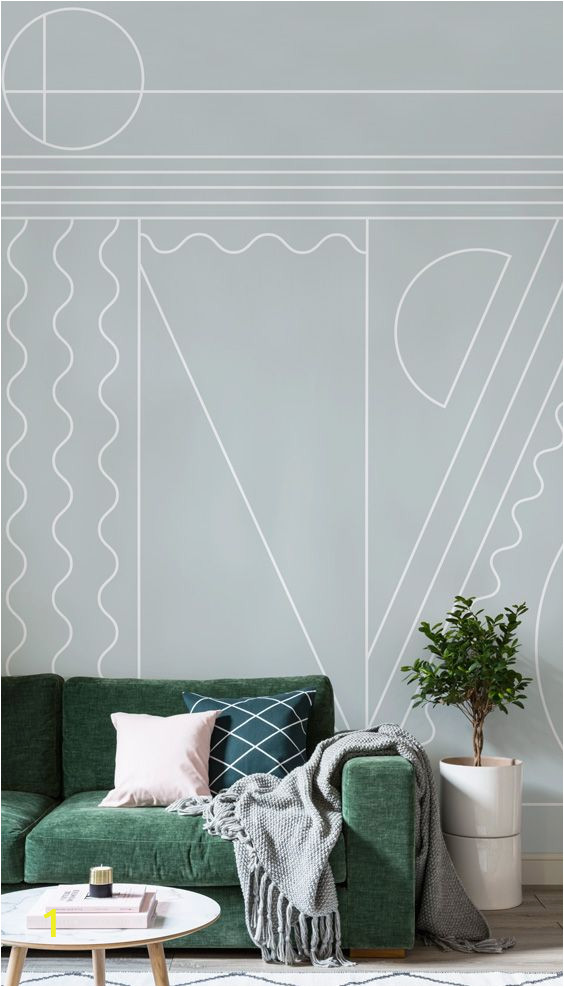 Art Deco Wall Mural Fitzgerald Art Deco Wall Mural In 2019