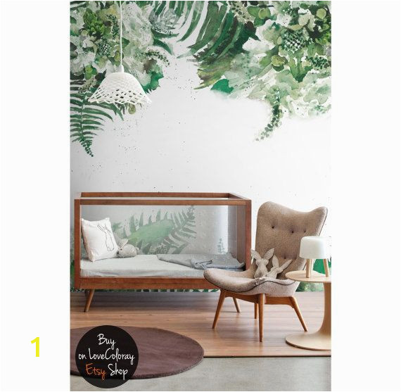 Art Fever Wall Murals Tropical Green Leaf Removable Wallpaper Leaves Jungle