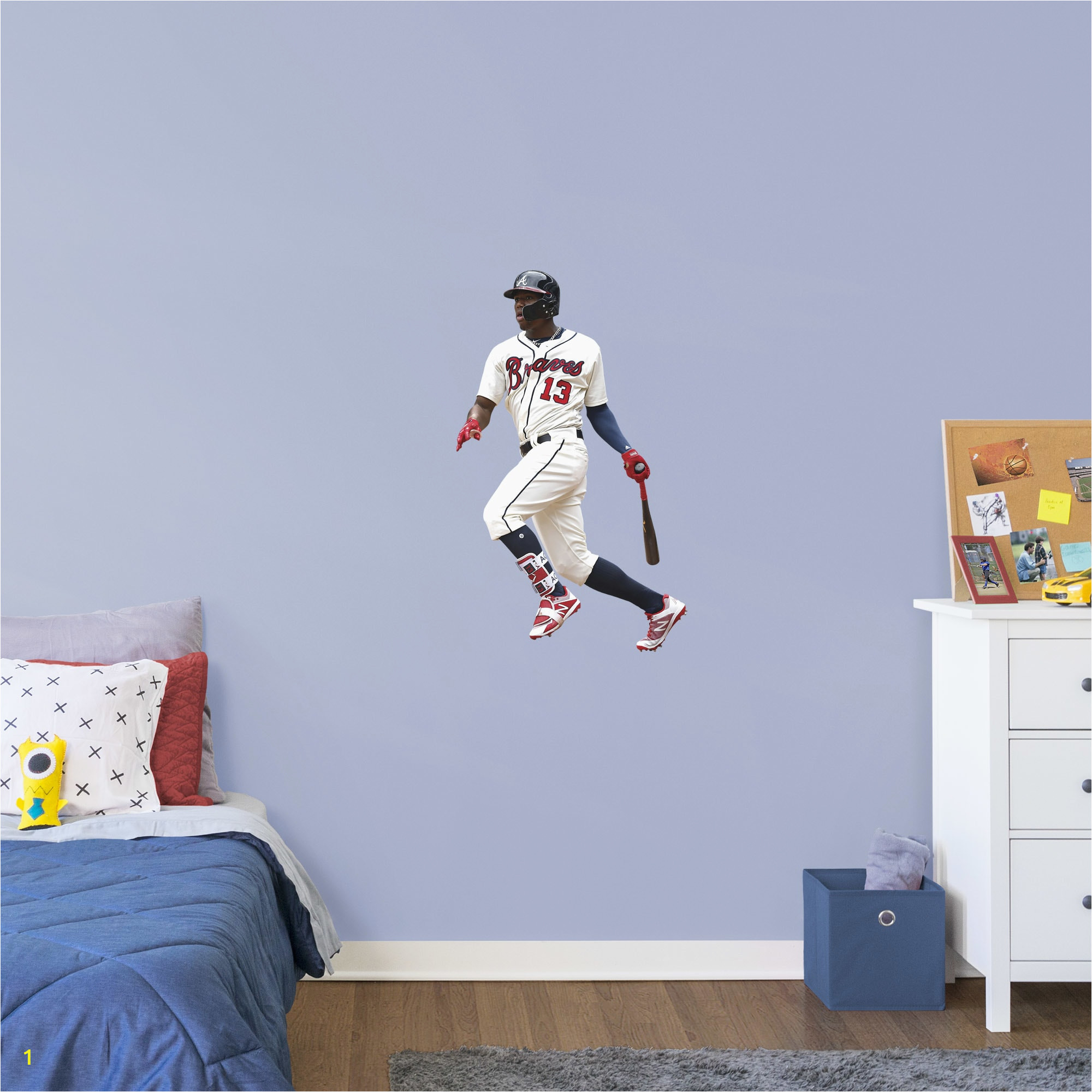 Atlanta Braves Wall Mural Ronald Acu±a Jr Life Size Ficially Licensed Mlb
