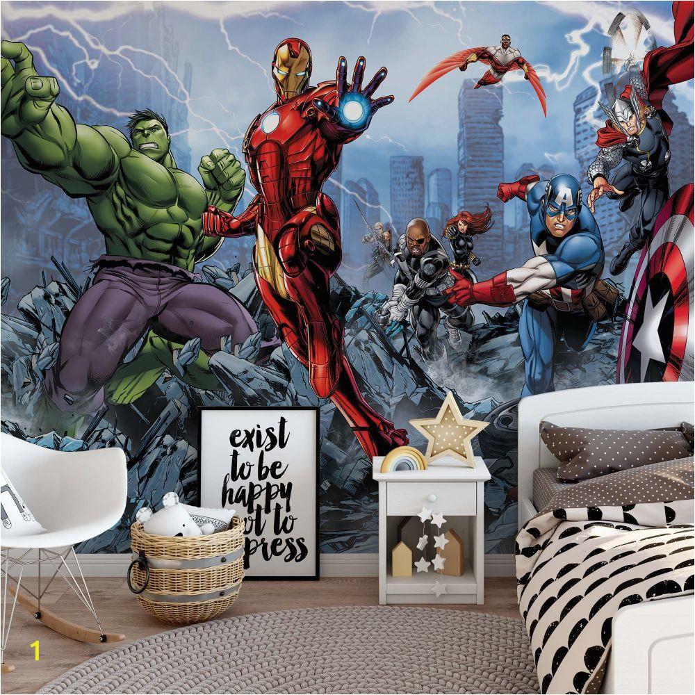 Avengers Wall Mural Uk Pin On Murs