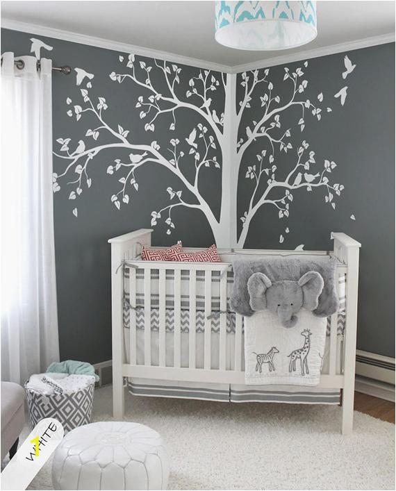 Baby Boy Room Wall Murals Martin Lantern Unicorn White Paper Martinslaterne Einhorn