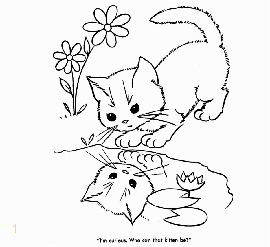 Baby Cat Coloring Pages Cute Cat Coloring Pages 04
