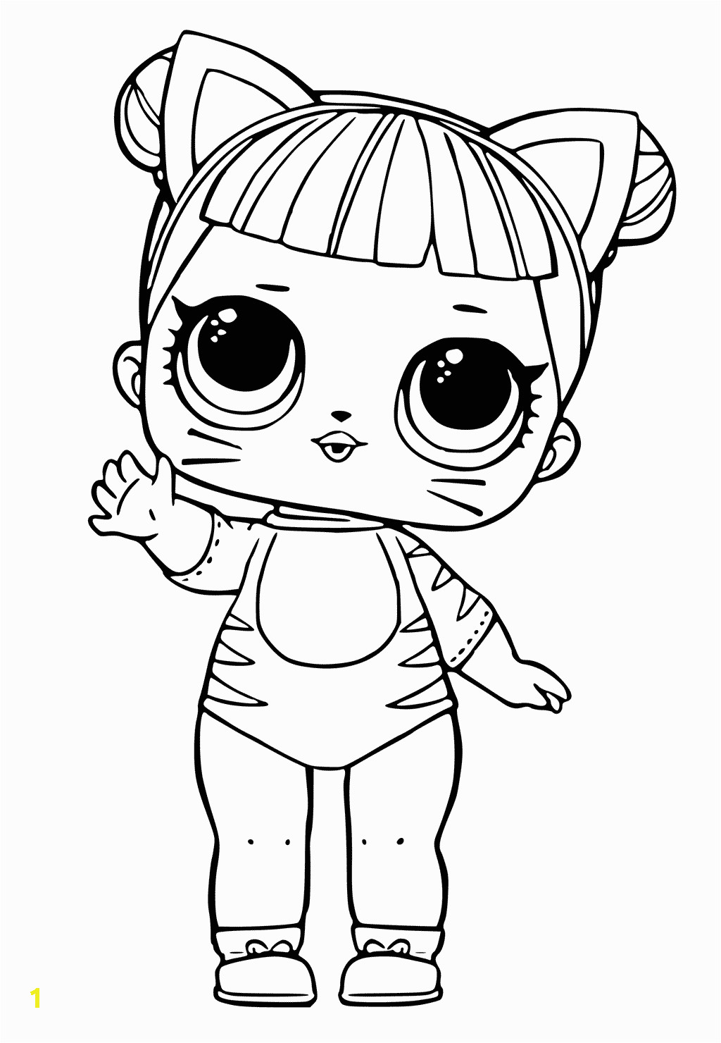 Baby Cat Lol Doll Coloring Page Lol Doll Coloring Pages