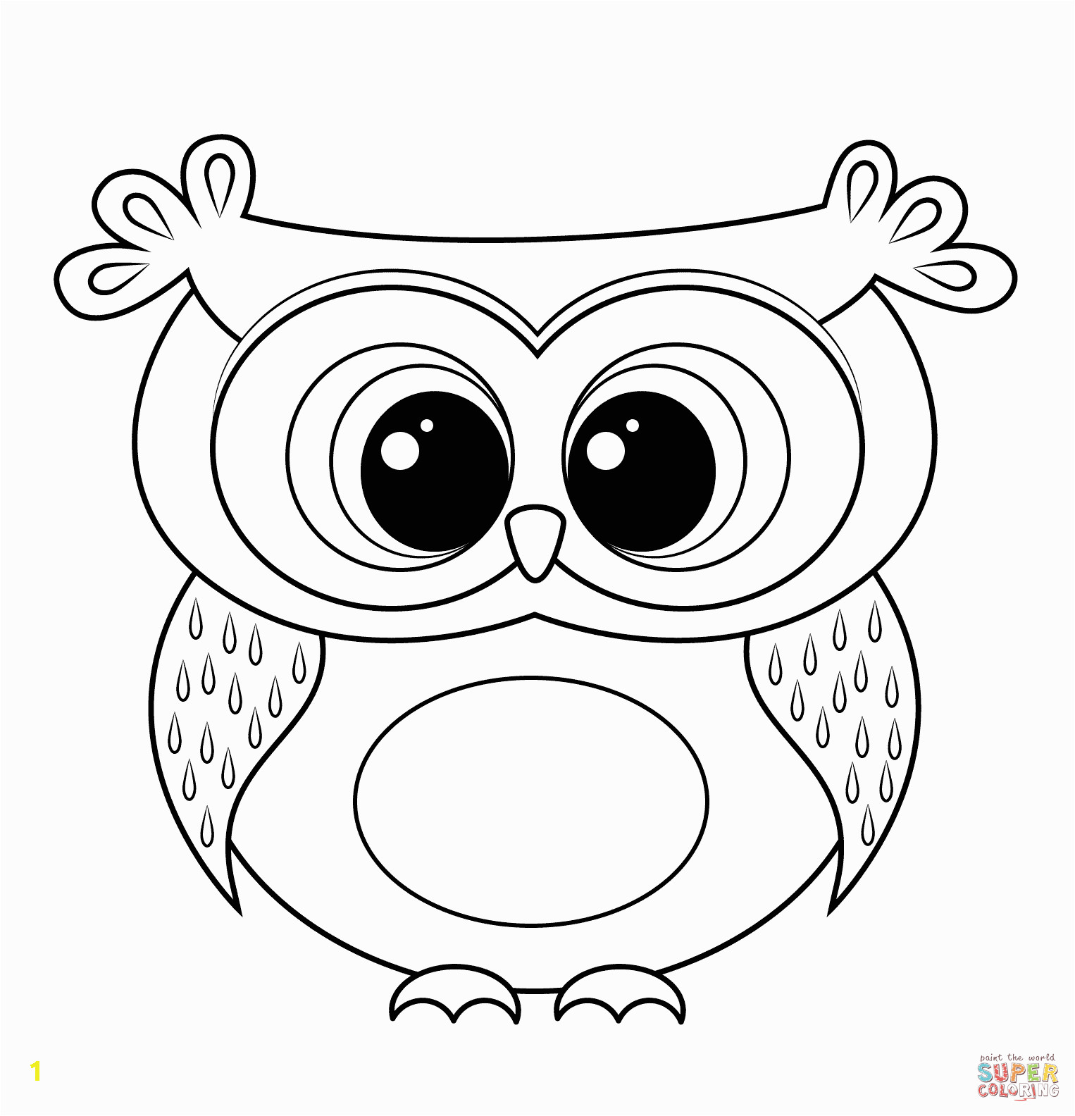 Baby Owl Coloring Page Cartoon Owl Coloring Page
