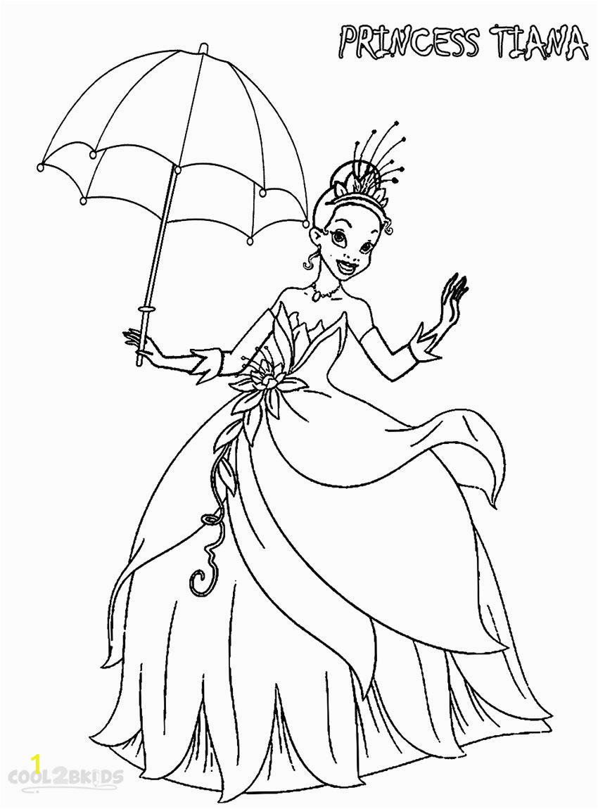 Baby Princess Tiana Coloring Pages Printable Princess Tiana Coloring Pages for Kids