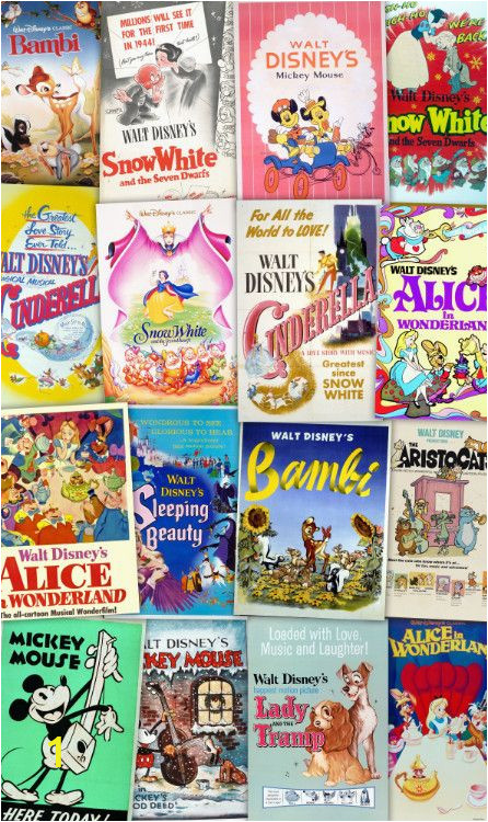 non woven photomural disney movie posters retro girls 6785 p