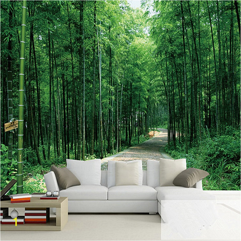 Custom 3D Wallpaper Pastoral Bamboo Forest Landscape Wallpaper Living Room Sofa TV graphy Background Wall