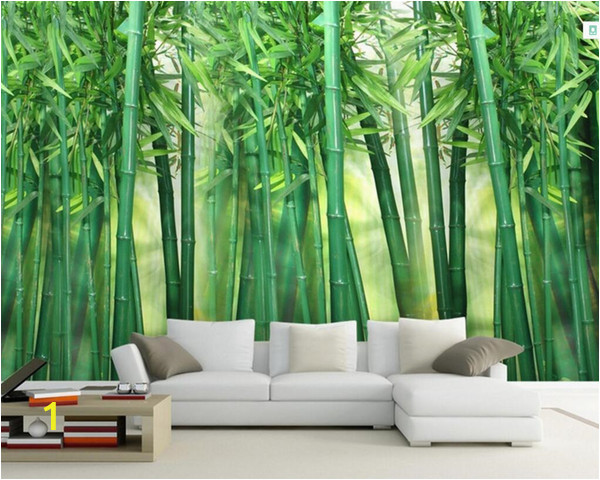 Bamboo Wall Mural Wallpaper Custom Wallpaper Bamboo forest Art Wall Painting Living Room Tv Background Mural Home Decor 3d Wallpaper for Wallpaper for