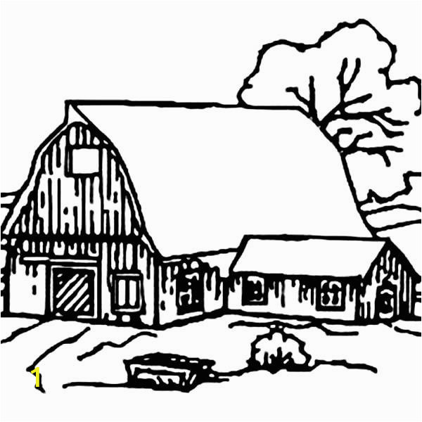 Barn Coloring Book Pages Barn Barn House Covered with Snow Coloring Page