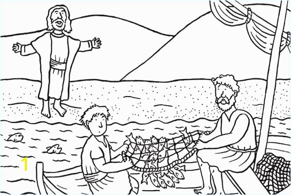 peter catches fish coloring pages collection 3e disciples od jesus christ catching fish coloring page
