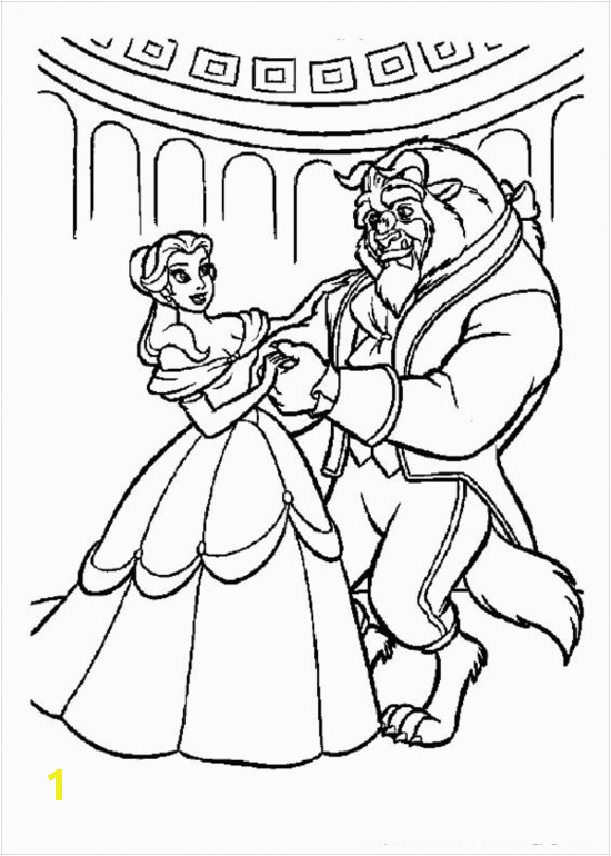 Belle Beauty and the Beast Coloring Pages Free Disney Princess Beauty and the Beast Coloring Pages