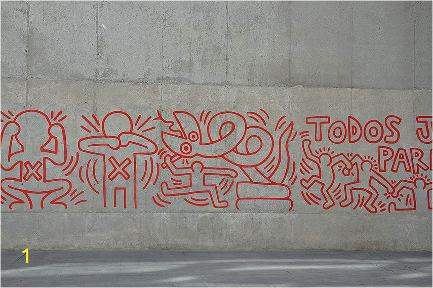 Keith Haring A Mural in Barcelona 1989