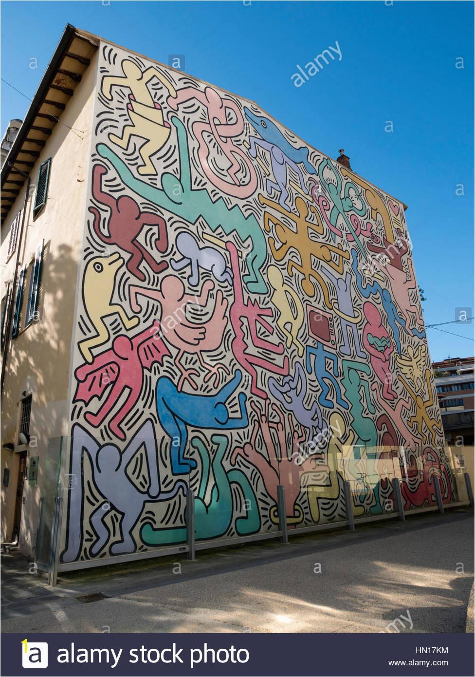 tuttomondo ein kunstwerk von keith haring 1989 pisa toskana italien hn17km