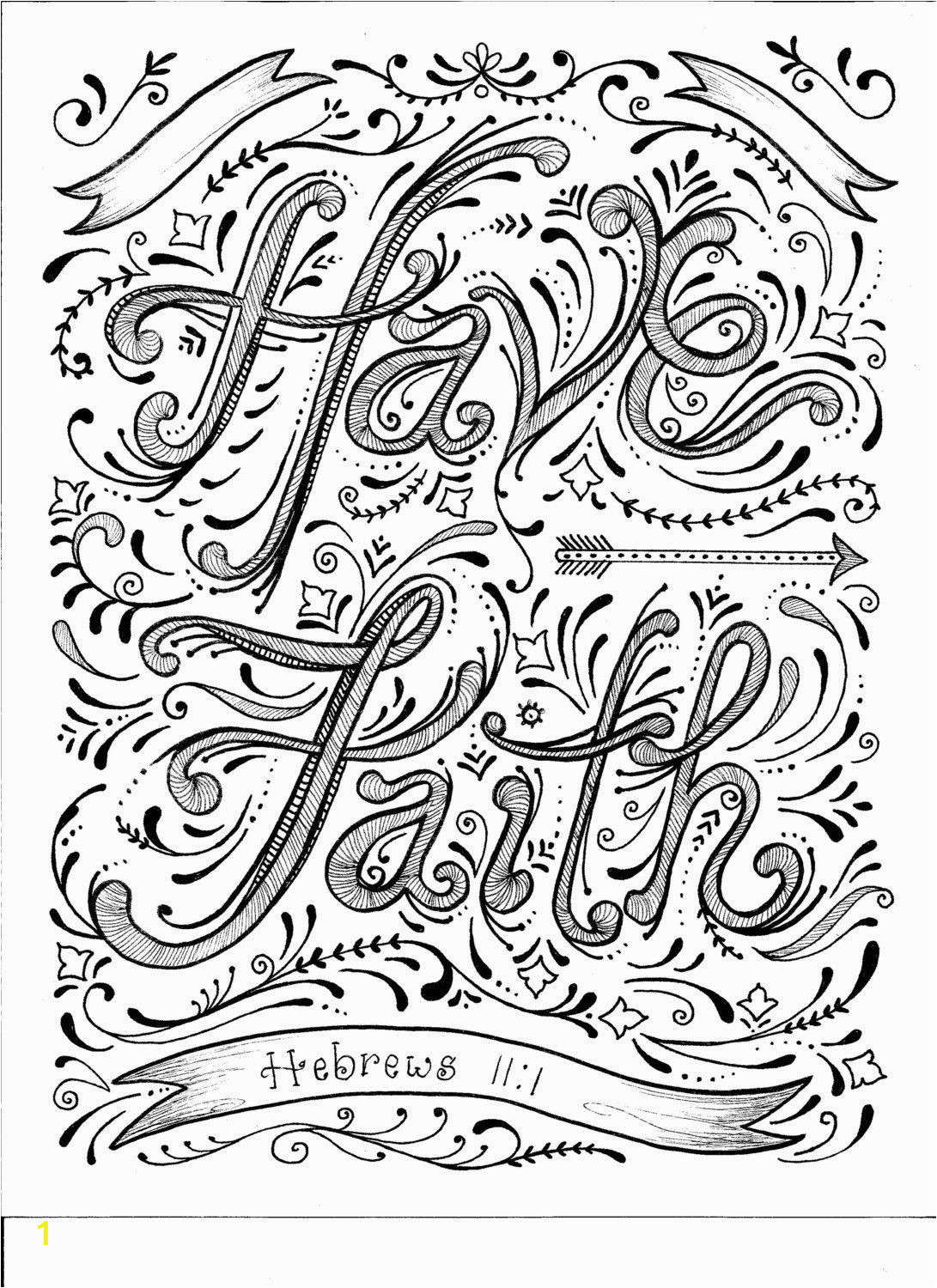 Bible Coloring Pages On Faith Instant Download Faith Coloring Page Diy