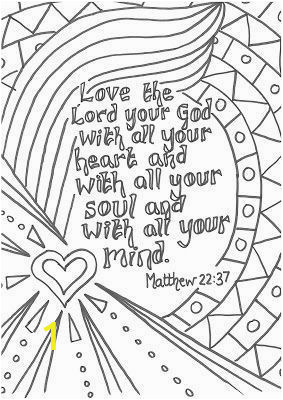 Bible Verse Coloring Pages Kids Love the Lord with All Your Heart Kids Church