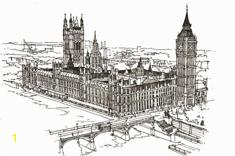 Big Ben Coloring Page Pin by Anthony On Tattoo Ideas