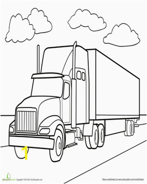 Big Truck Coloring Pages for Kids Semi Truck Coloring Page