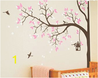 Bird and Owl Tree Wall Mural Set Tree Wall Decal Nursery Wall Decoration Tree Wall