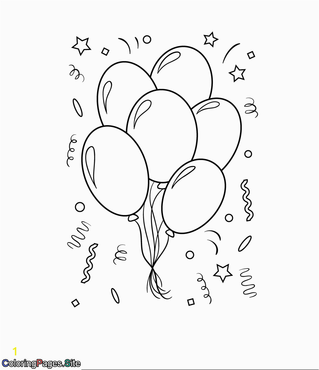 birthday balloons coloring page happy balloon pages for kids image inspirations