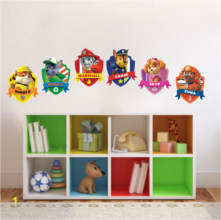 Paw Patrol Bedroom Decal Decor Stickers s20