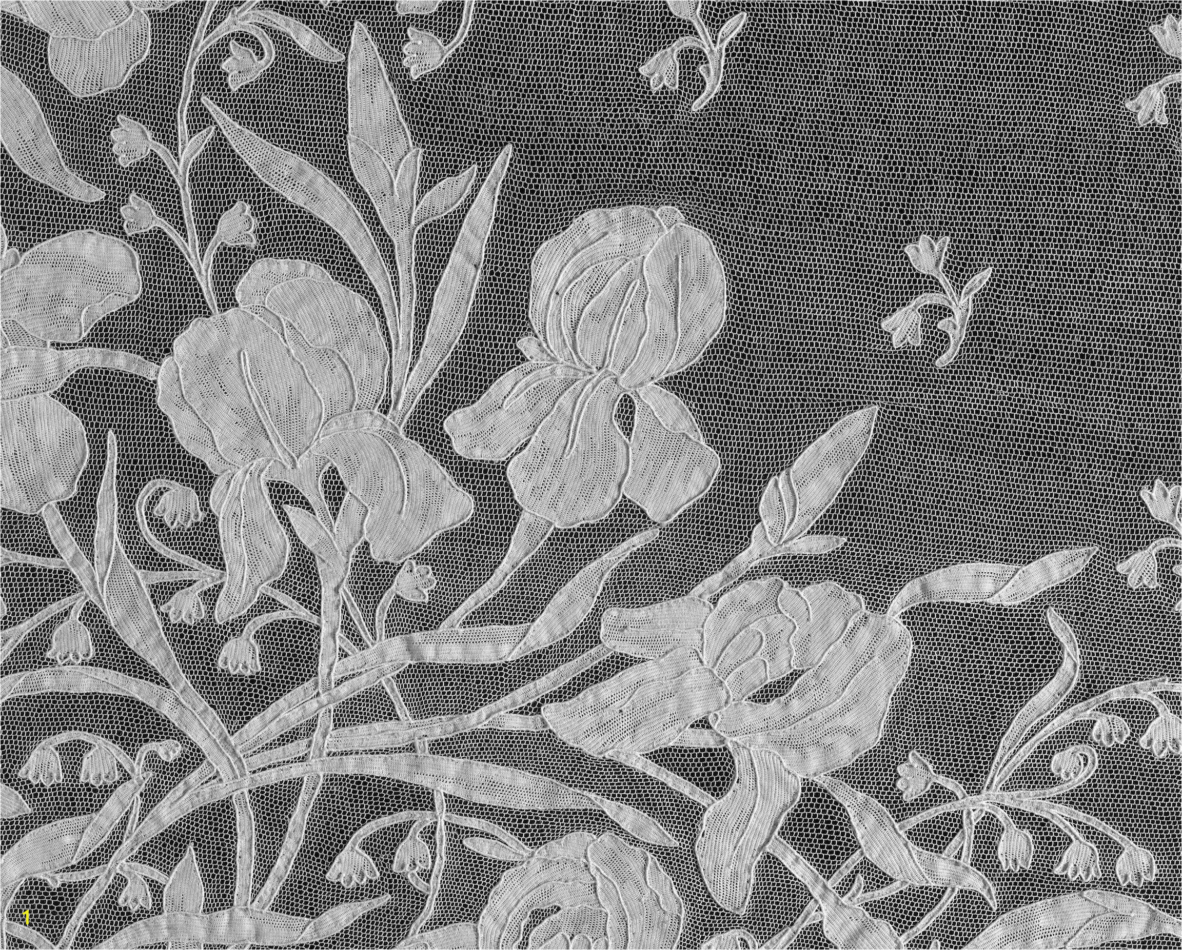 Black and White Flower Wall Mural Murals Of Italian Stole by V&a 3000mm X 2400mm