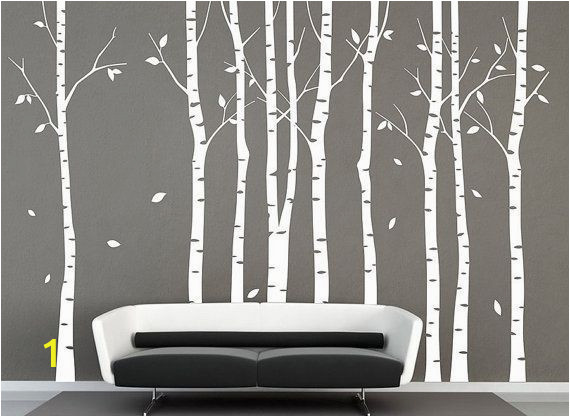 Black and White Tree Wall Mural Pin On Black and White