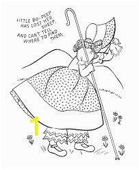 Bo Peep Coloring Page Little Bo Peep Little Bo Peep