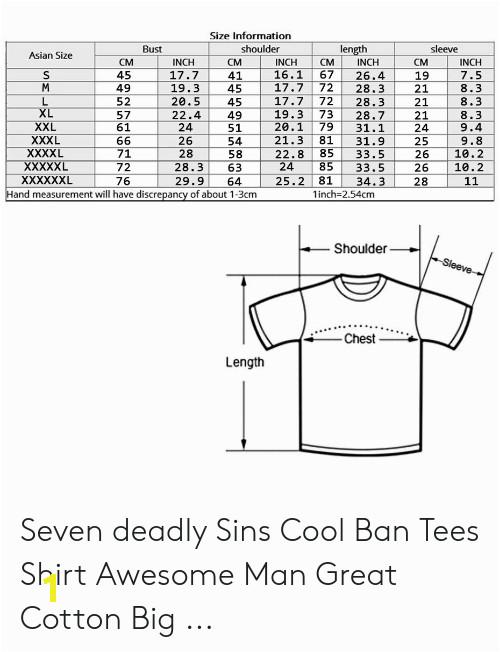 size information shoulder length sleeve bust asian size cm inch