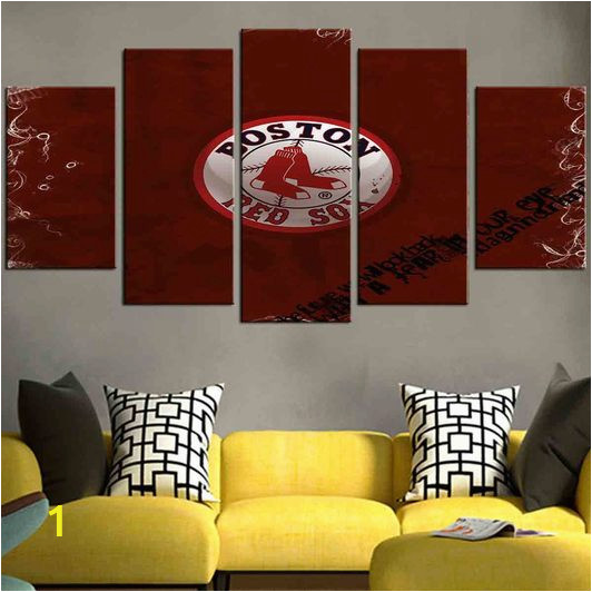 Boston Red sox Wall Murals Boston Red sox 3 Set Full Hd Personalized Customized Canvas