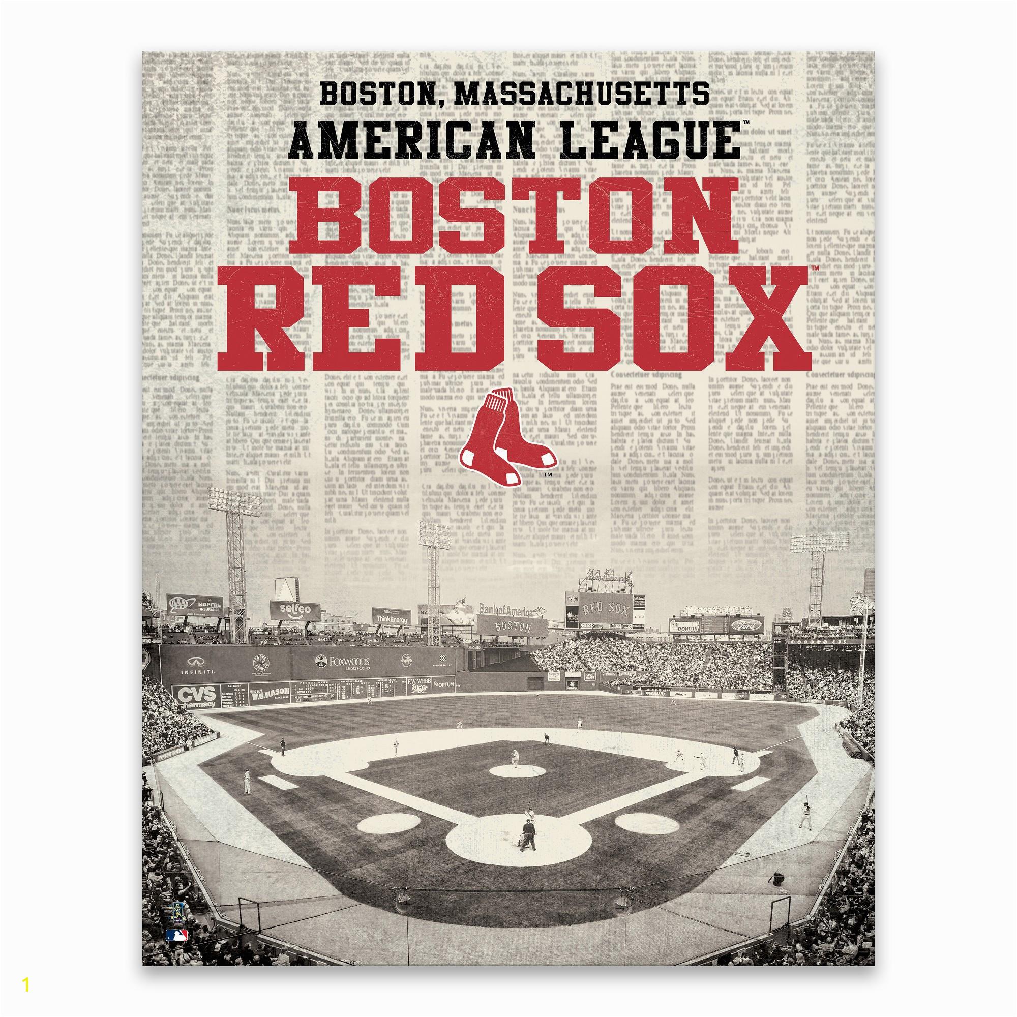 Boston Red sox Wall Murals Mlb Boston Red sox Newspaper Stadium Printed Canvas Art 22