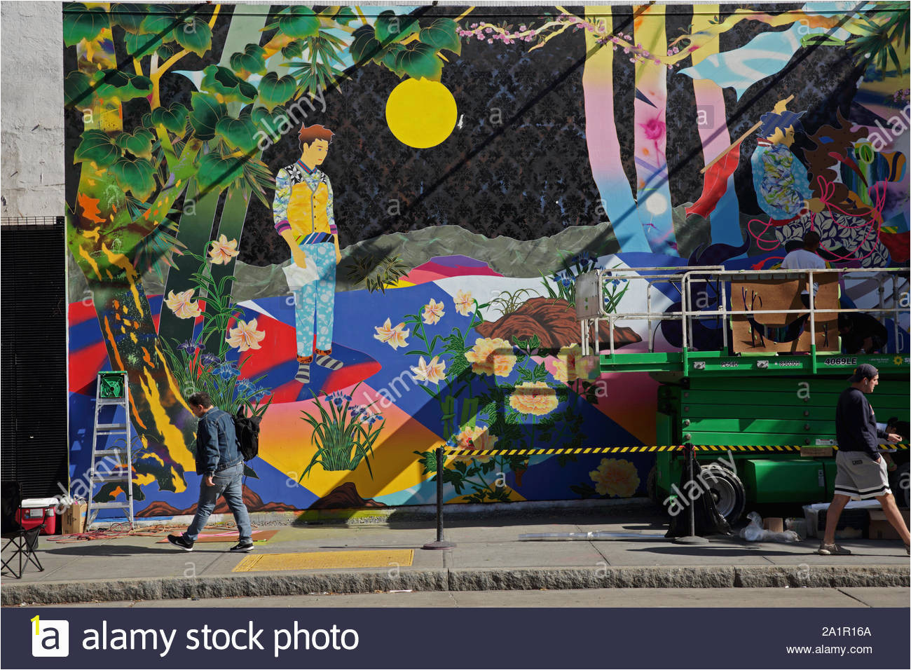 new york ny usa september 20 2019 view of the fine art painting by tomokazu matsuyama on the bowery mural wall on houston street 2A1R16A