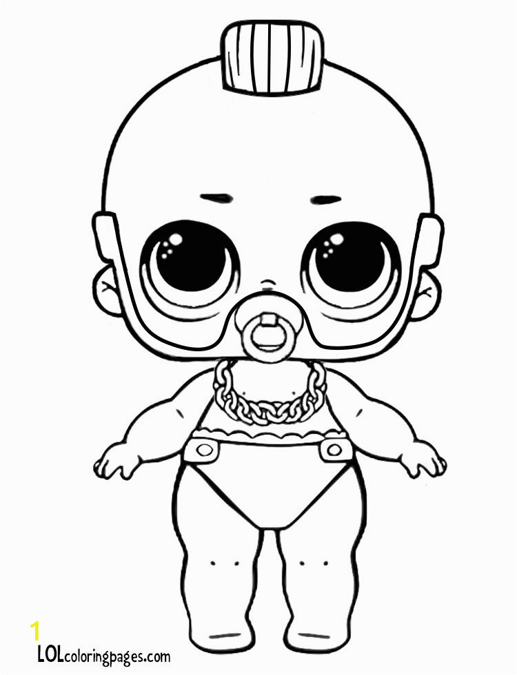Boy Lol Doll Coloring Pages Lil T Custom Lol Doll Coloring Page