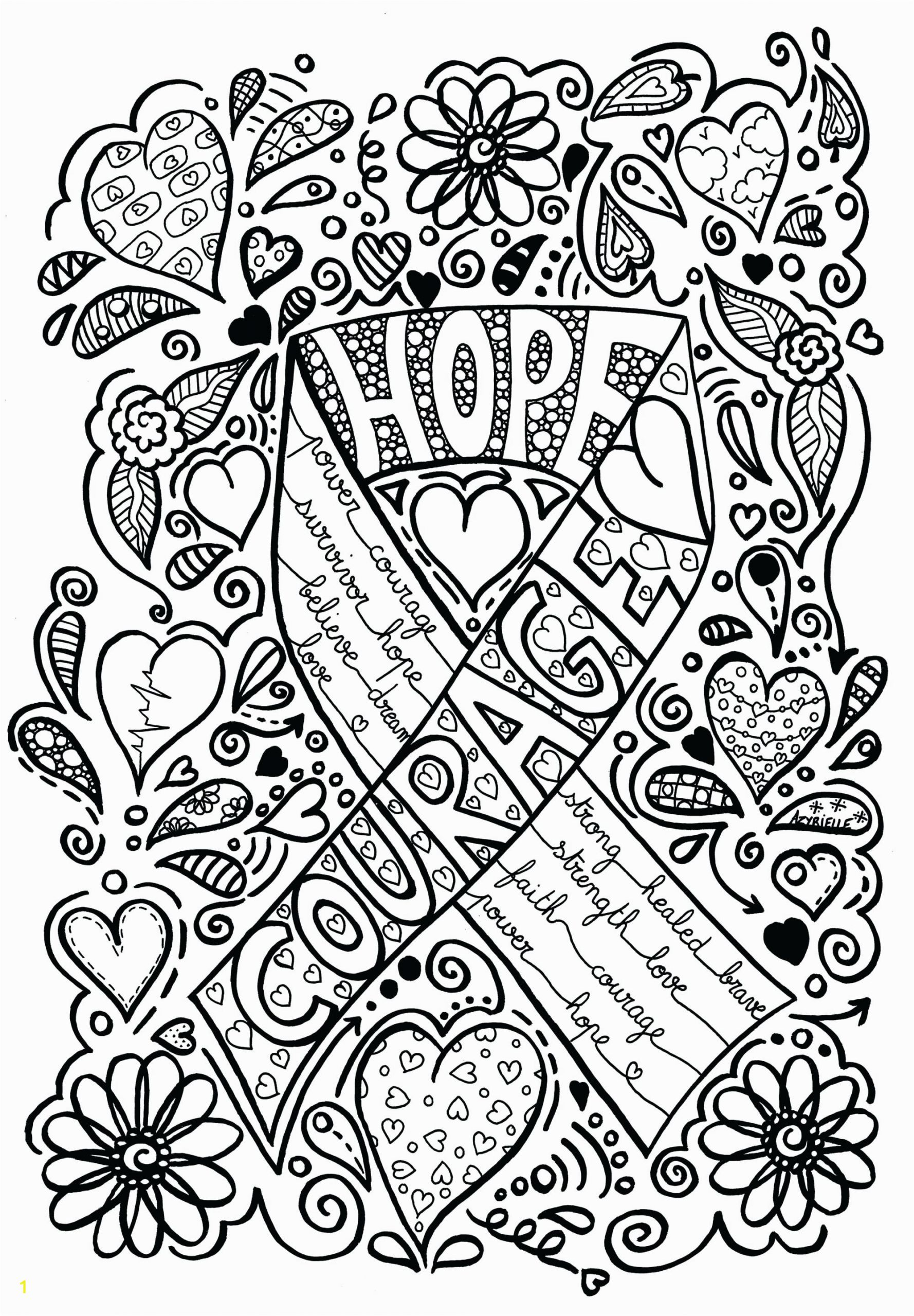 Breast Cancer Coloring Pages Printable Breast Cancer Ribbon Coloring Sheet – Champprint
