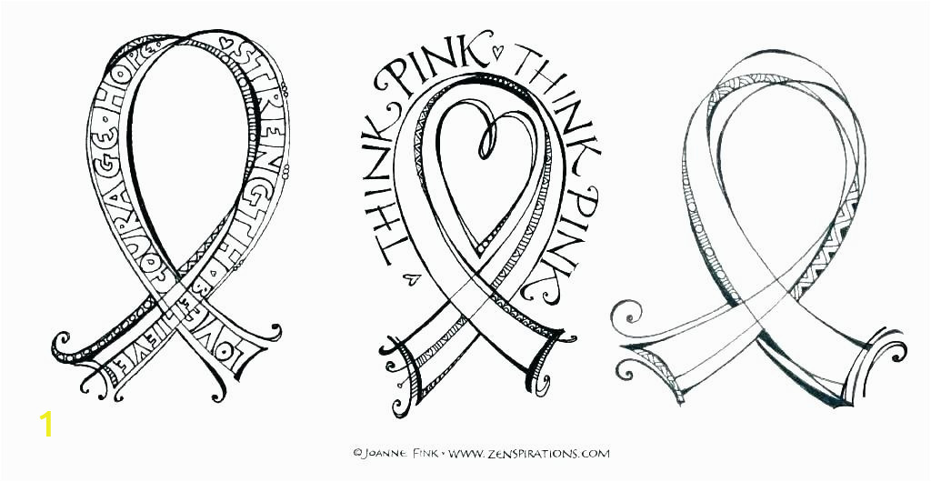 free printable breast cancer ribbons ribbon coloring pages awareness page colon pink template canc